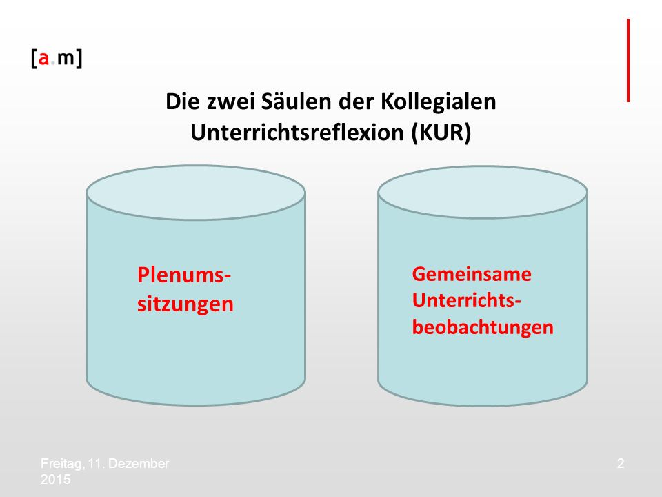 Die zwei Säulen der Kollegialen Unterrichtsreflexion (KUR)