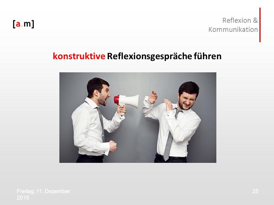 Reflexion & Kommunikation