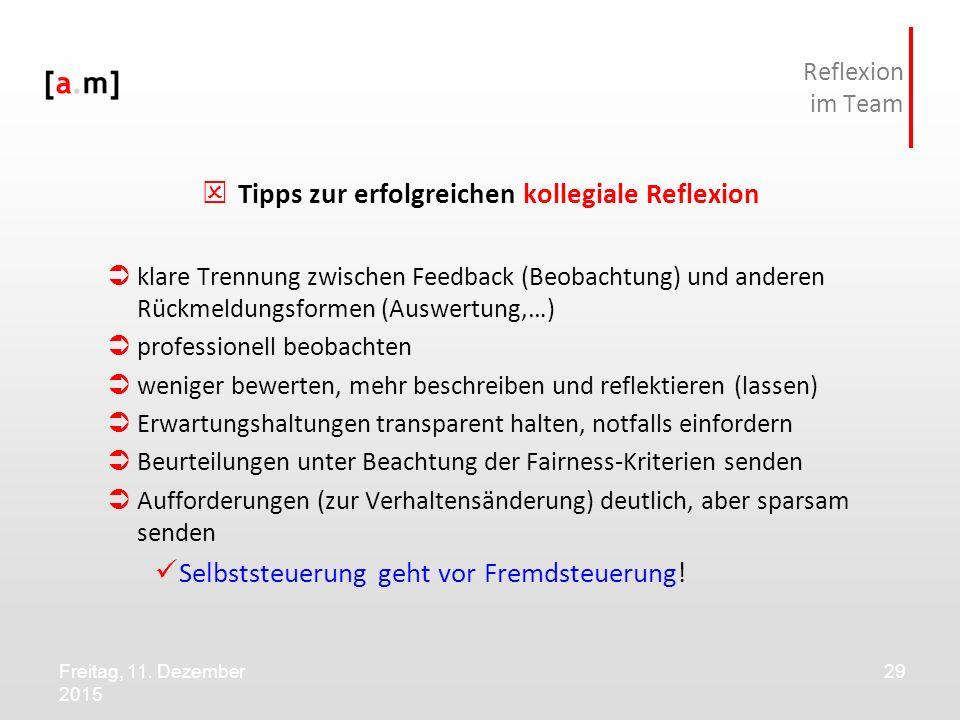 Tipps zur erfolgreichen kollegiale Reflexion