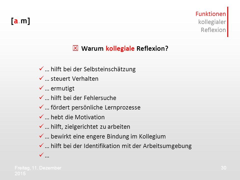 Funktionen kollegialer Reflexion