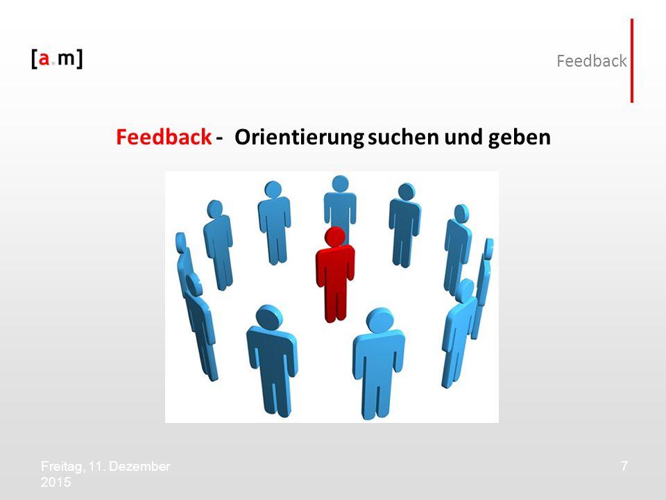 Feedback - Orientierung suchen und geben