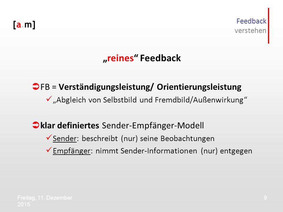 """""""reines Feedback FB = Verständigungsleistung/ Orientierungsleistung"""