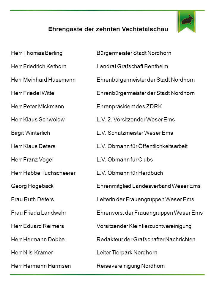 Ehrengäste der zehnten Vechtetalschau
