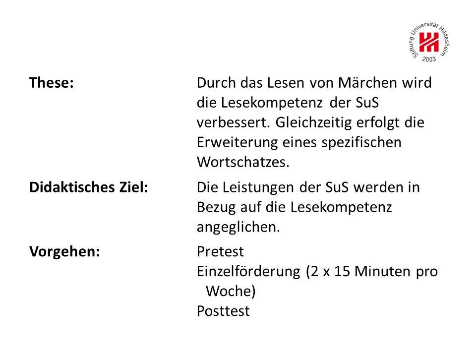 Einzelförderung (2 x 15 Minuten pro Woche) Posttest