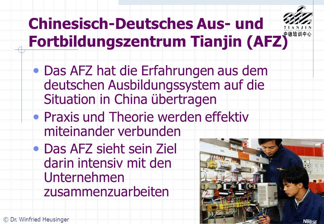 Chinesisch-Deutsches Aus- und Fortbildungszentrum Tianjin (AFZ)
