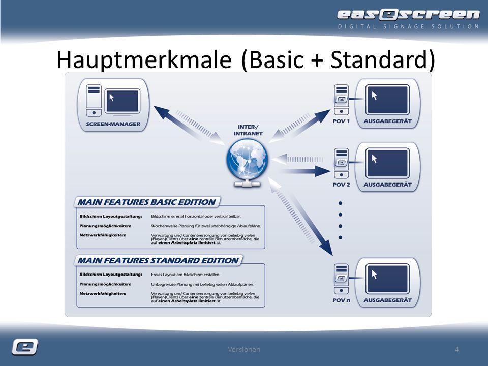Hauptmerkmale (Basic + Standard)