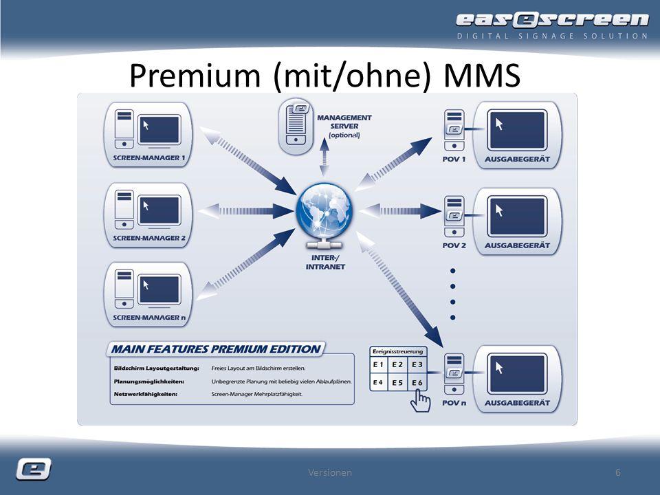 Premium (mit/ohne) MMS