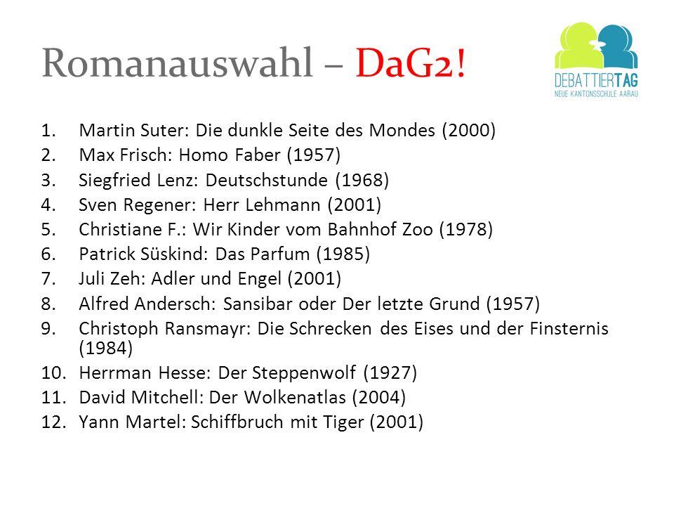 Romanauswahl – DaG2! Martin Suter: Die dunkle Seite des Mondes (2000)