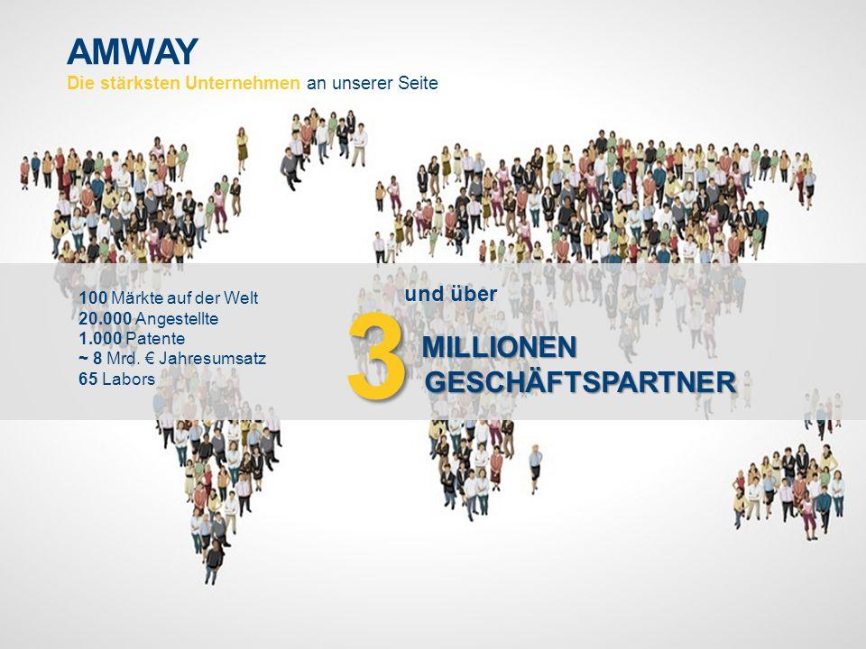 3 AMWAY Die stärksten Unternehmen an unserer Seite MILLIONEN und über
