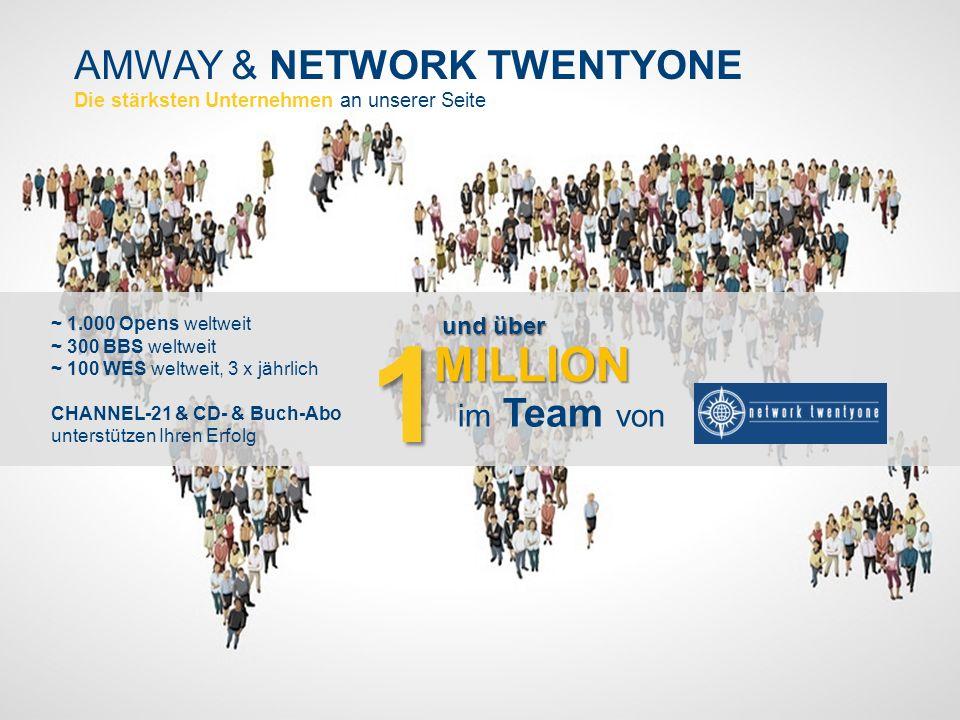 AMWAY & NETWORK TWENTYONE Die stärksten Unternehmen an unserer Seite