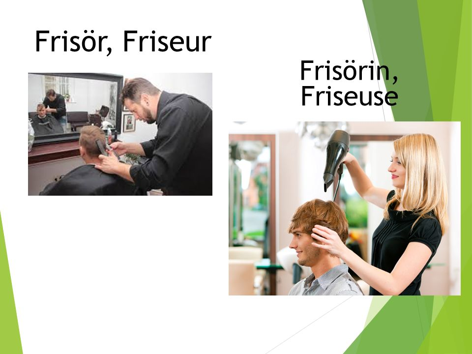Frisör, Friseur Frisörin, Friseuse