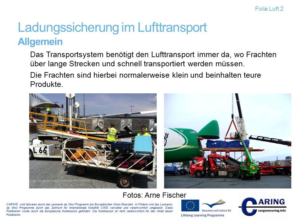 Ladungssicherung im Lufttransport Allgemein