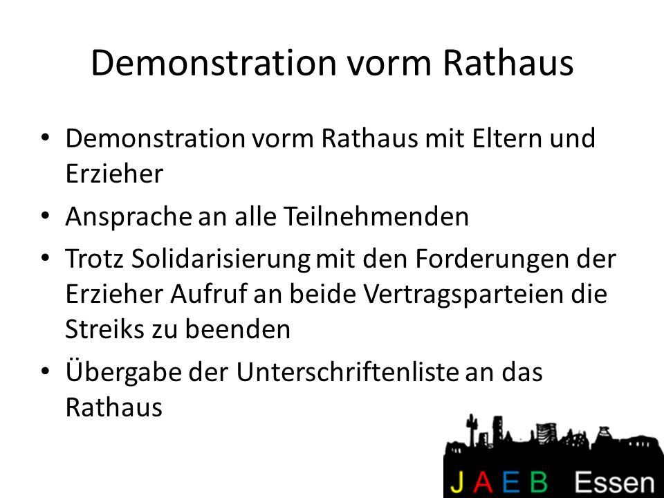 Demonstration vorm Rathaus