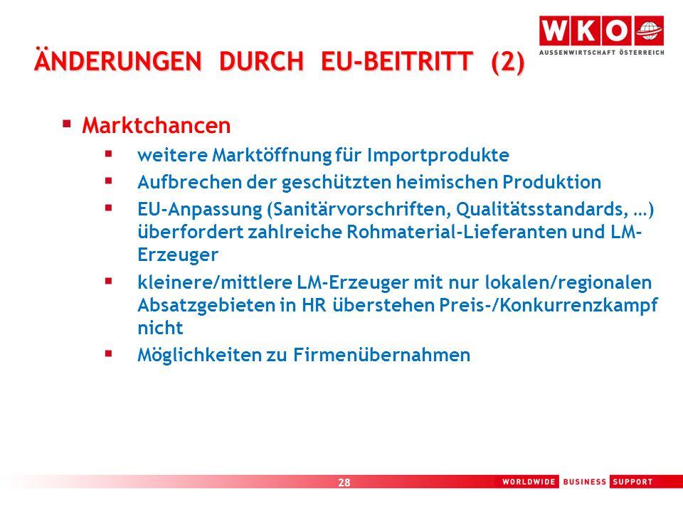 ÄNDERUNGEN DURCH EU-BEITRITT (2)