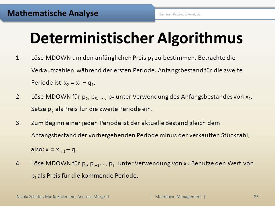 Deterministischer Algorithmus