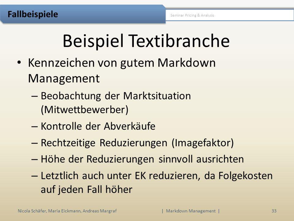 Beispiel Textibranche