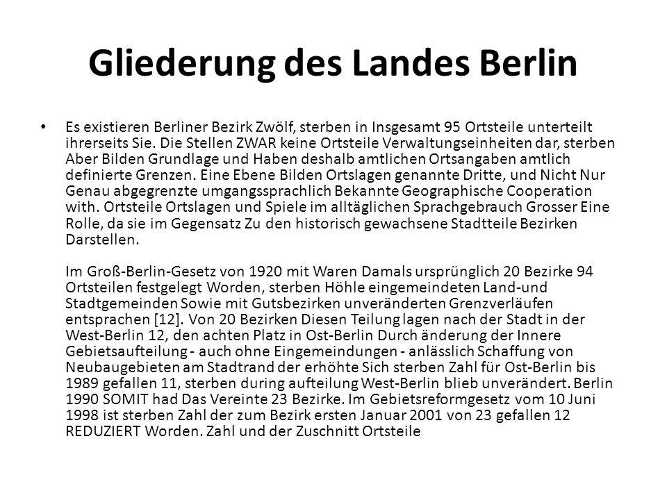 Gliederung des Landes Berlin