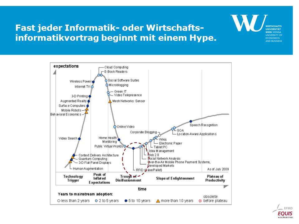 Fast jeder Informatik- oder Wirtschafts-informatikvortrag beginnt mit einem Hype.