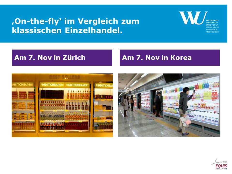 'On-the-fly' im Vergleich zum klassischen Einzelhandel.