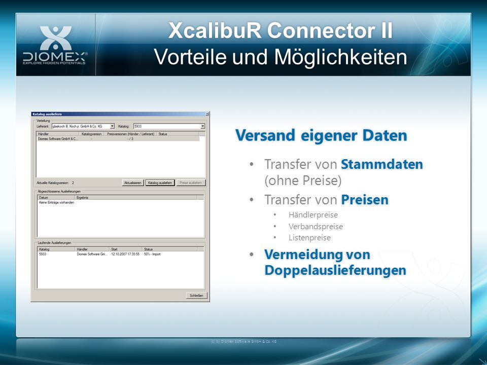 XcalibuR Connector II Vorteile und Möglichkeiten