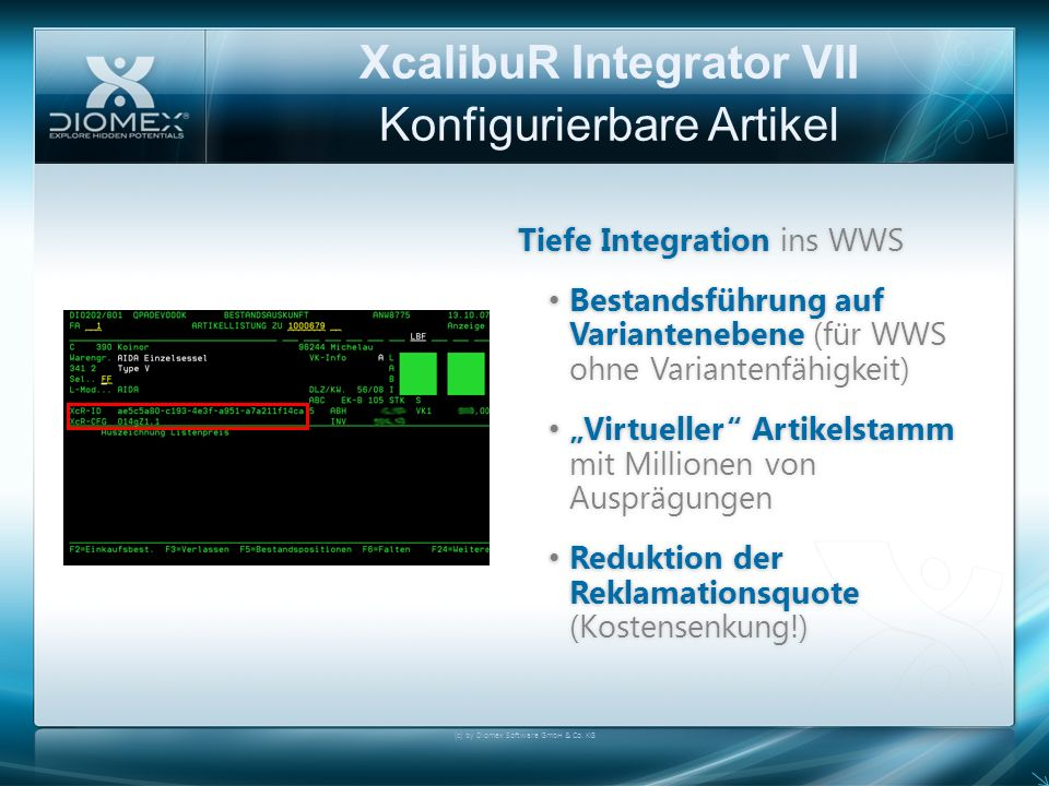 XcalibuR Integrator VII