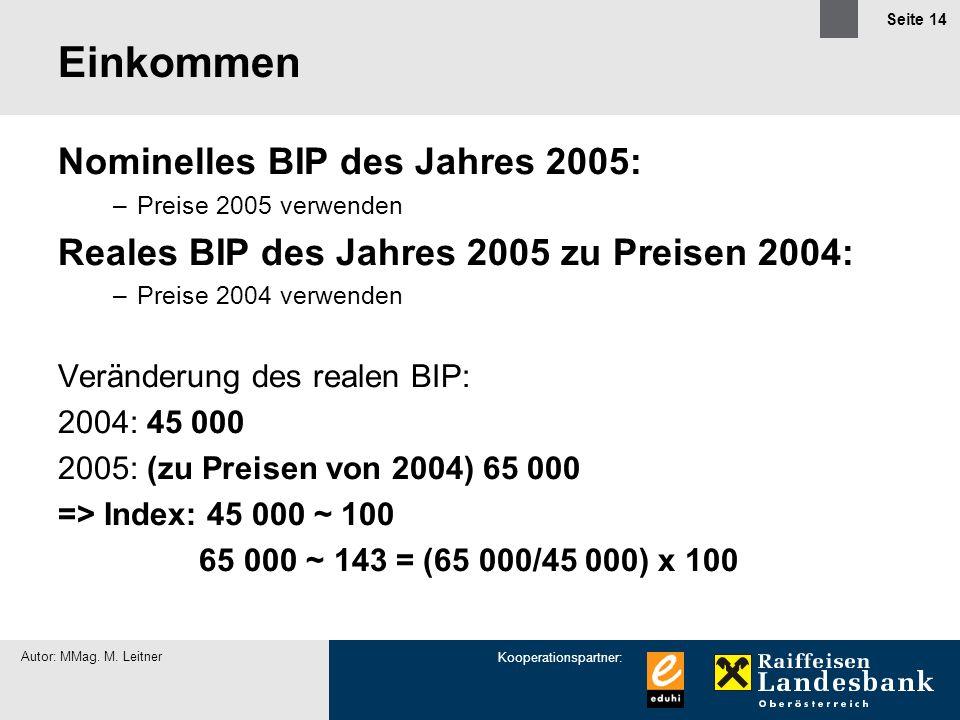 Einkommen Nominelles BIP des Jahres 2005: