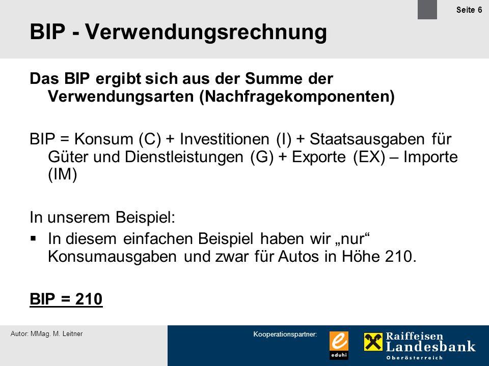 BIP - Verwendungsrechnung