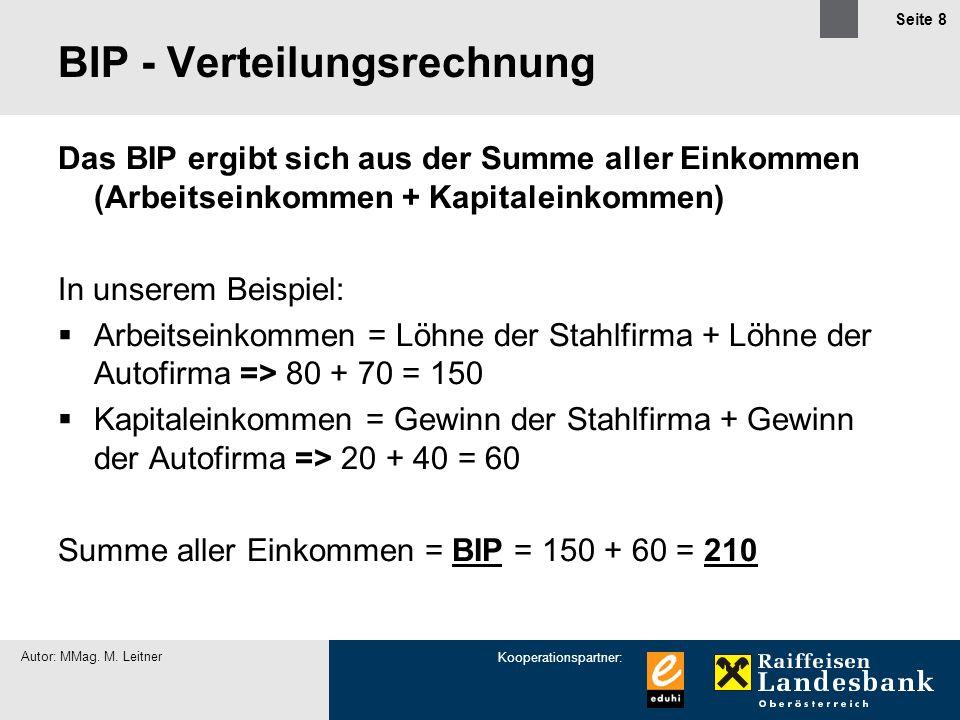 BIP - Verteilungsrechnung