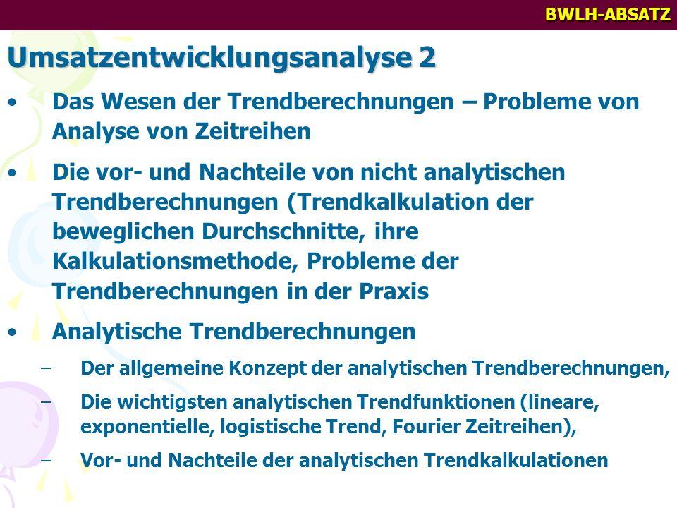 Umsatzentwicklungsanalyse 2