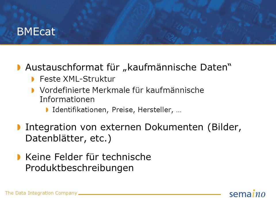 """BMEcat Austauschformat für """"kaufmännische Daten"""