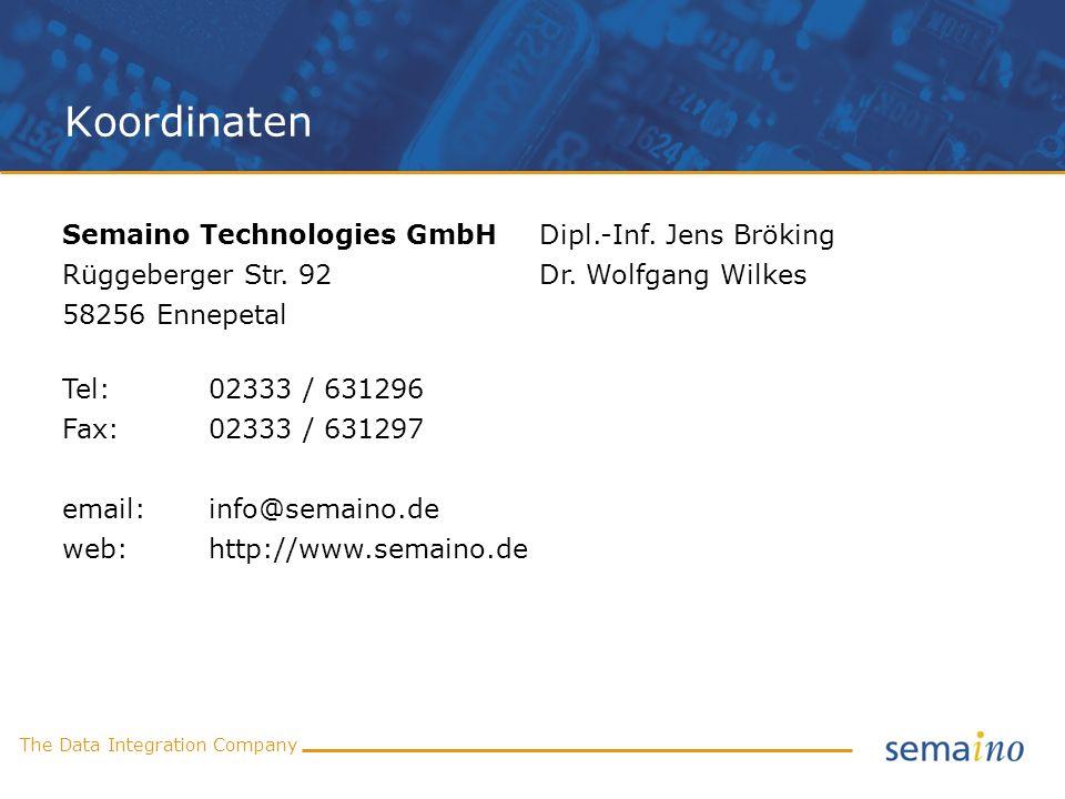 Koordinaten Semaino Technologies GmbH Dipl.-Inf. Jens Bröking