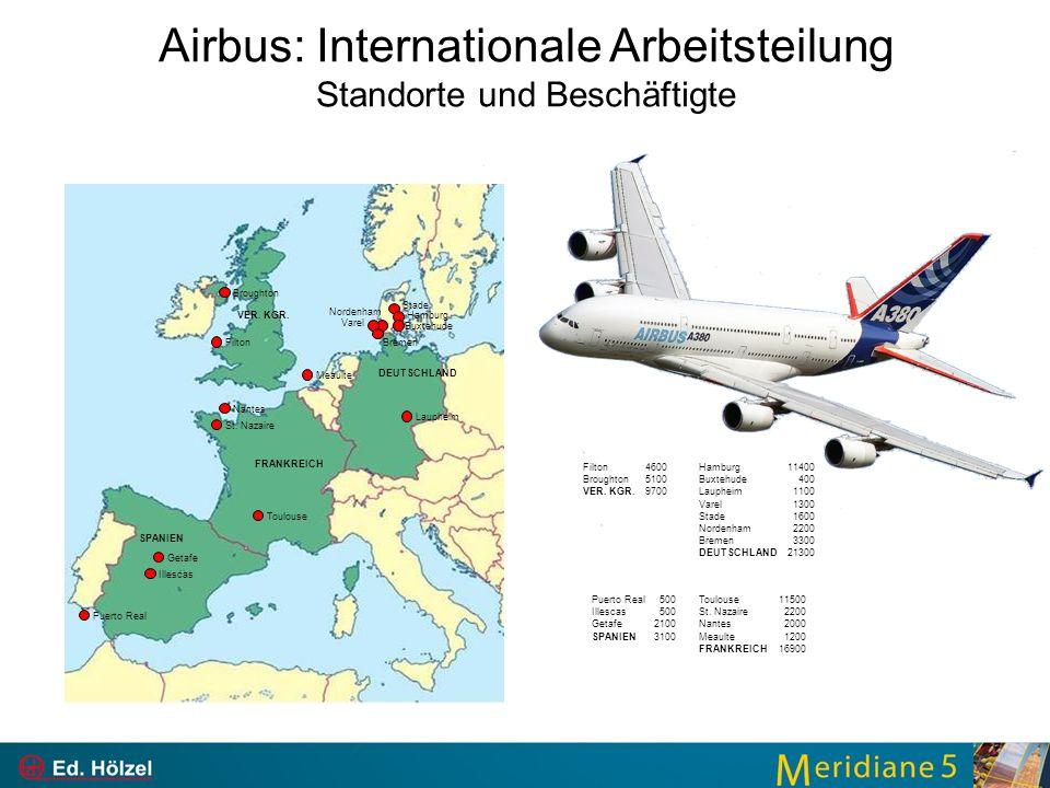 Airbus: Internationale Arbeitsteilung Standorte und Beschäftigte