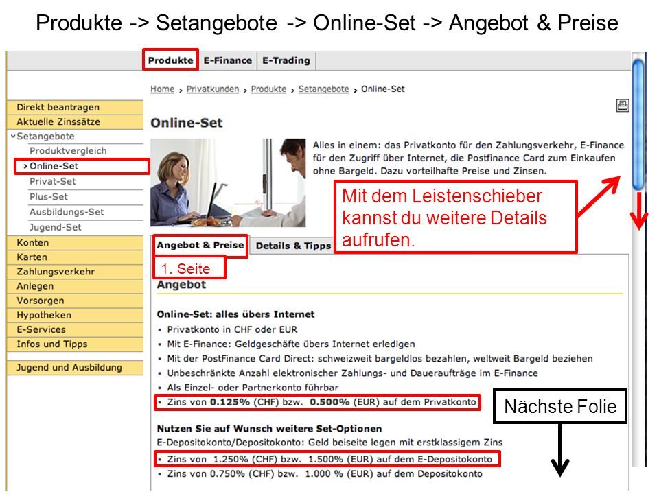 Produkte -> Setangebote -> Online-Set -> Angebot & Preise