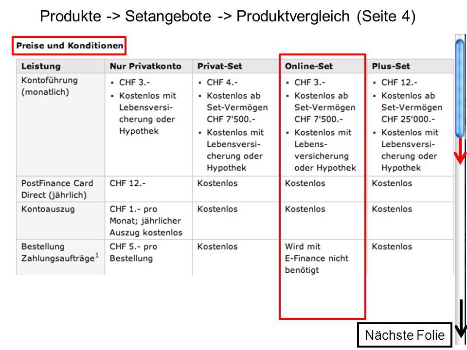 Produkte -> Setangebote -> Produktvergleich (Seite 4)