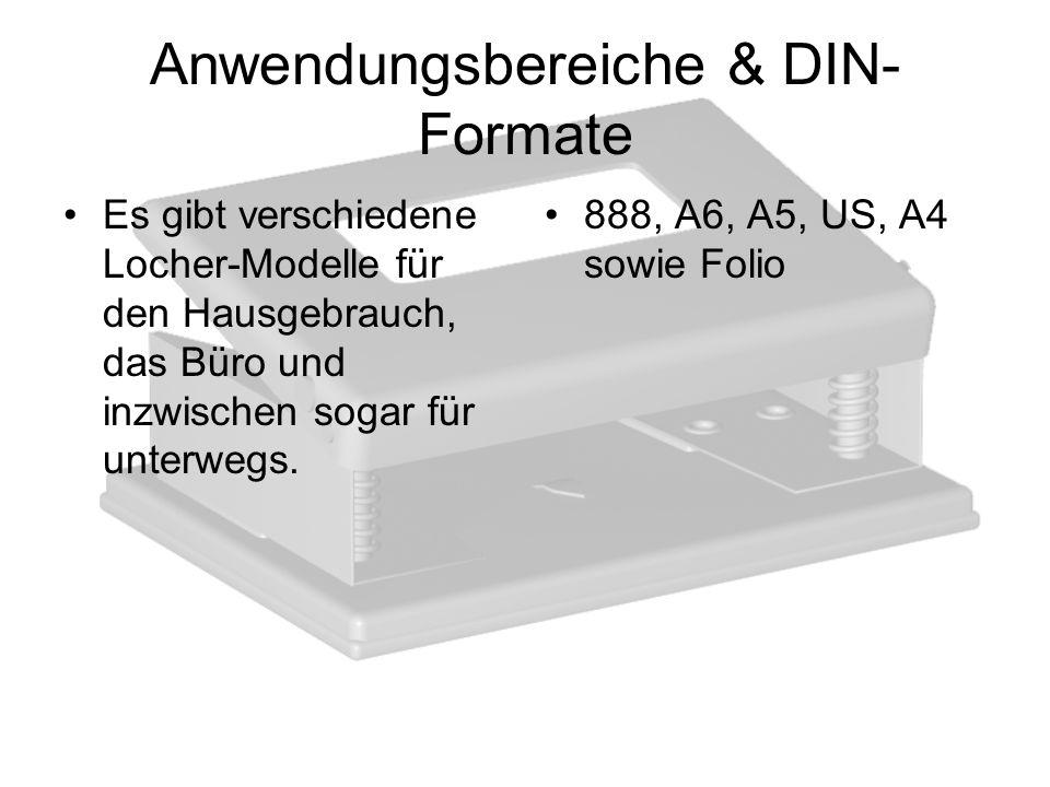 Anwendungsbereiche & DIN-Formate