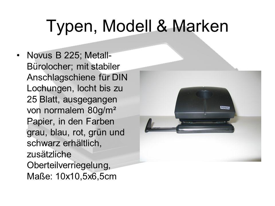 Typen, Modell & Marken