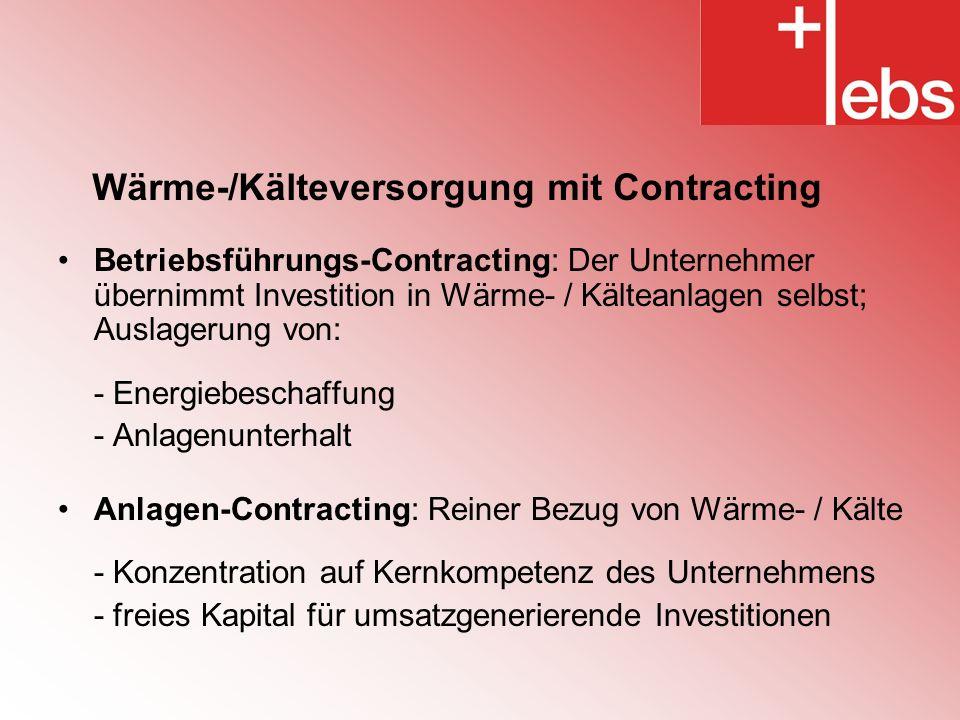 Wärme-/Kälteversorgung mit Contracting