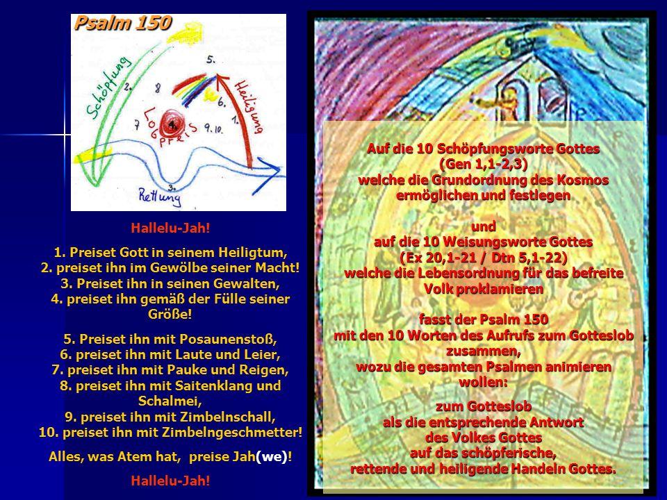Psalm 150 Auf die 10 Schöpfungsworte Gottes (Gen 1,1-2,3)