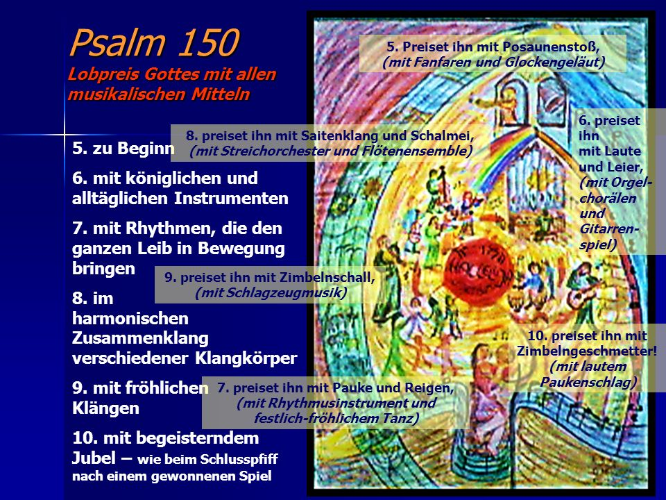 Psalm 150 Lobpreis Gottes mit allen musikalischen Mitteln