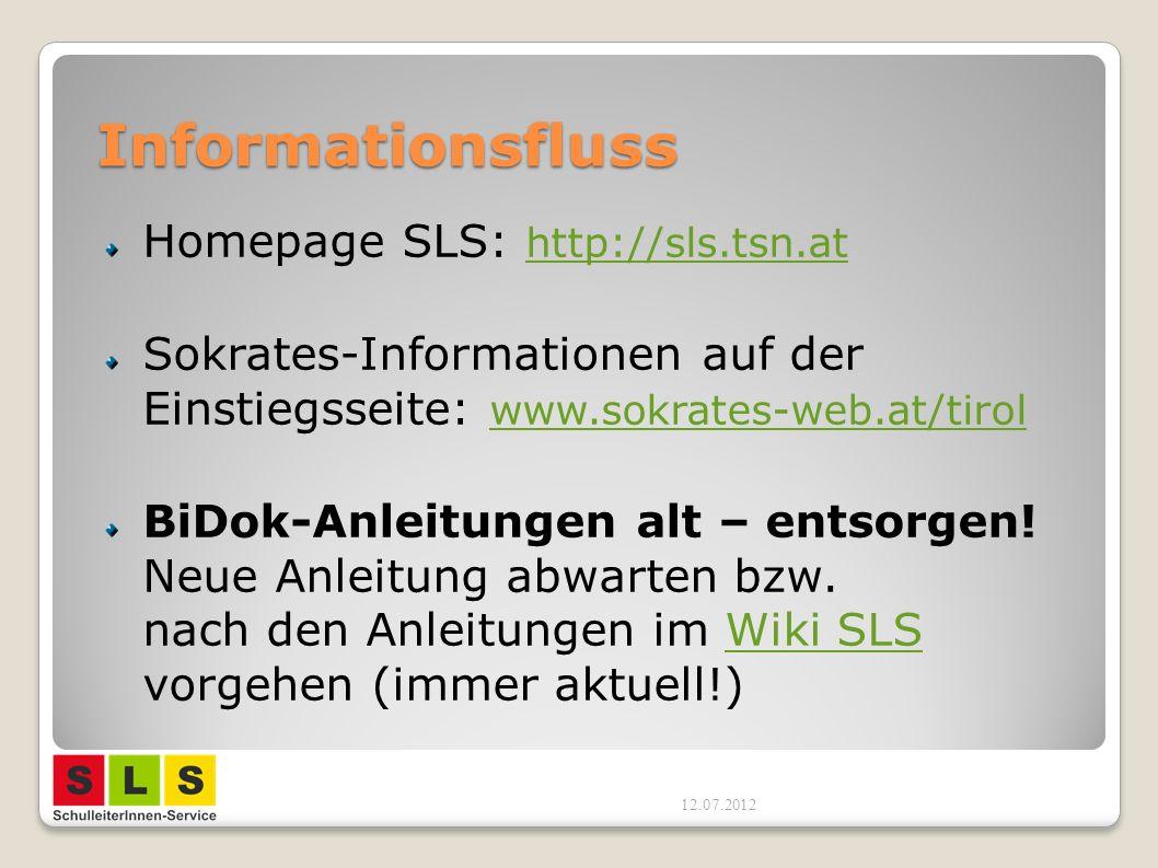 Informationsfluss Homepage SLS: http://sls.tsn.at