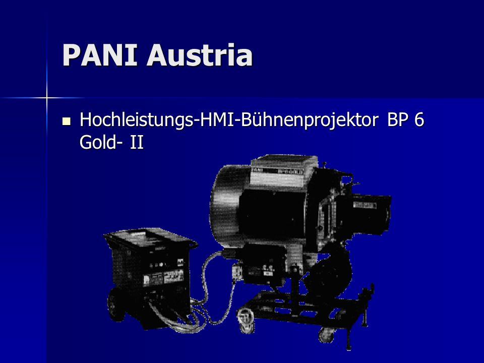 PANI Austria Hochleistungs-HMI-Bühnenprojektor BP 6 Gold- II