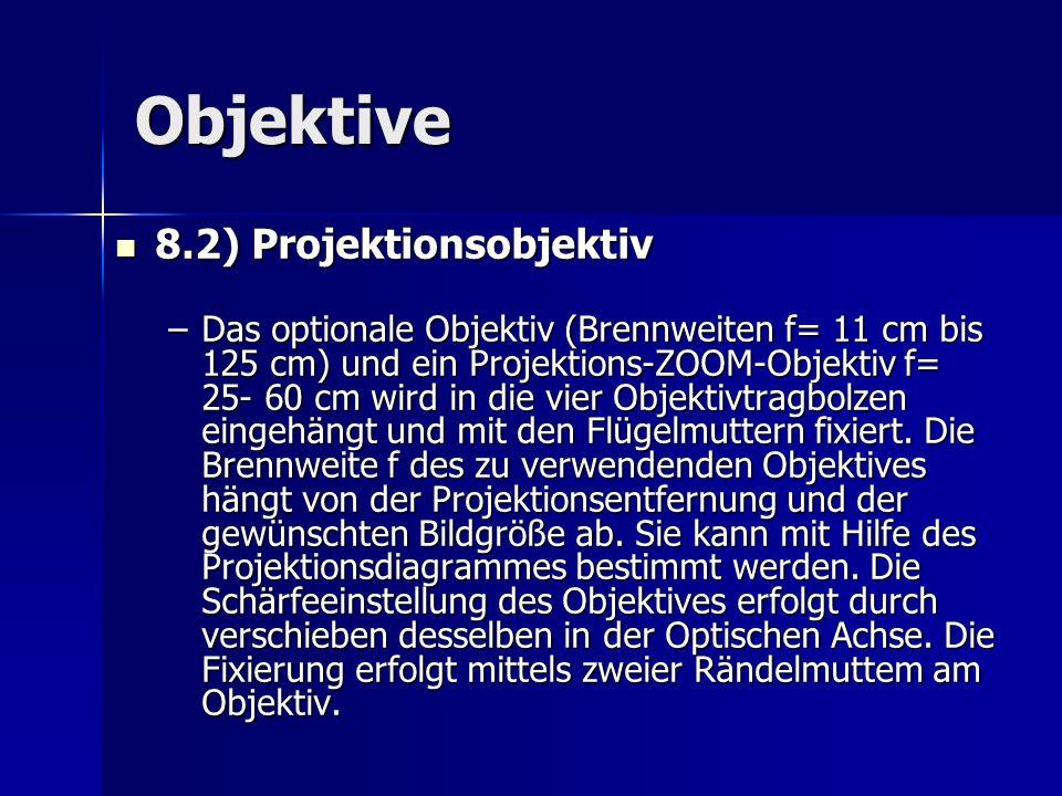 Objektive 8.2) Projektionsobjektiv
