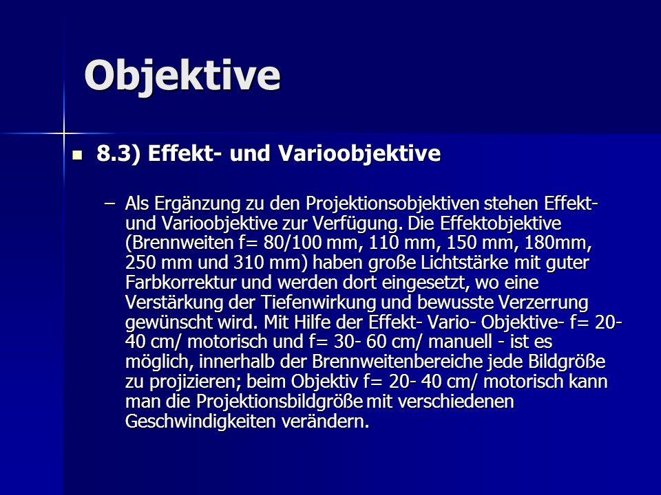 Objektive 8.3) Effekt- und Varioobjektive