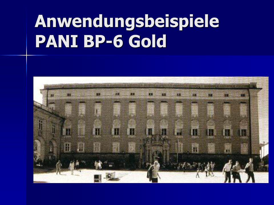 Anwendungsbeispiele PANI BP-6 Gold