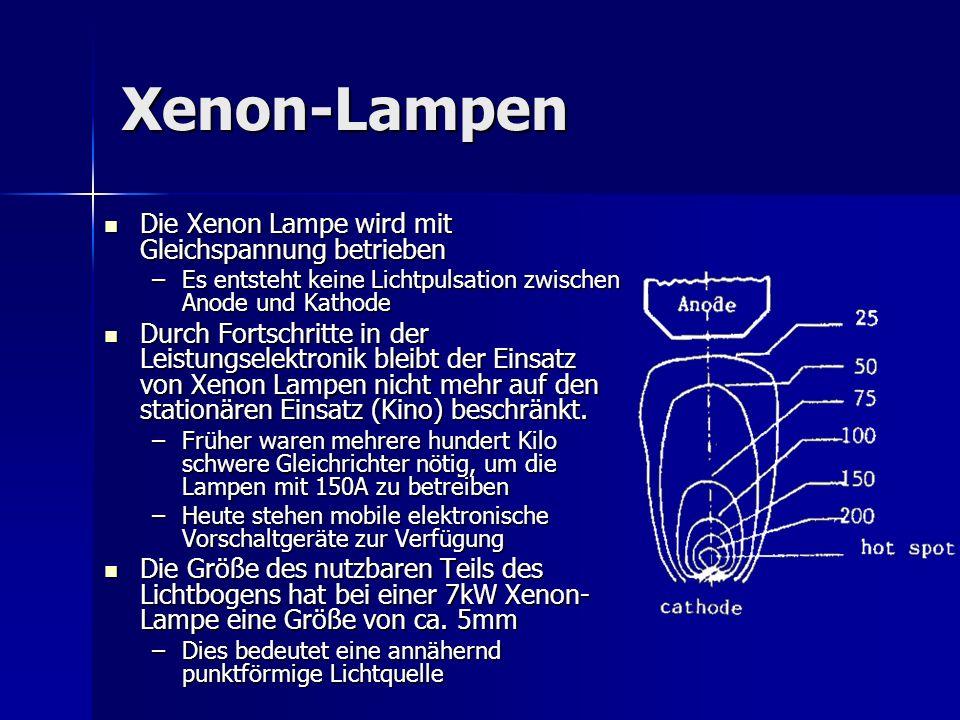 Xenon-Lampen Die Xenon Lampe wird mit Gleichspannung betrieben
