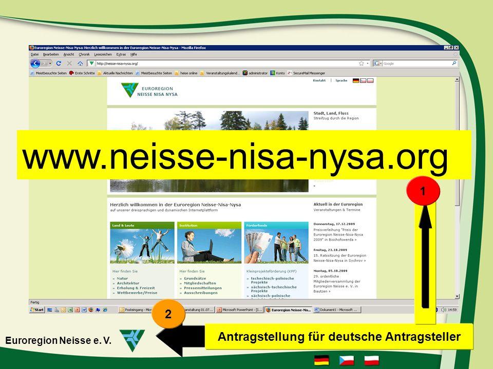 Antragstellung für deutsche Antragsteller
