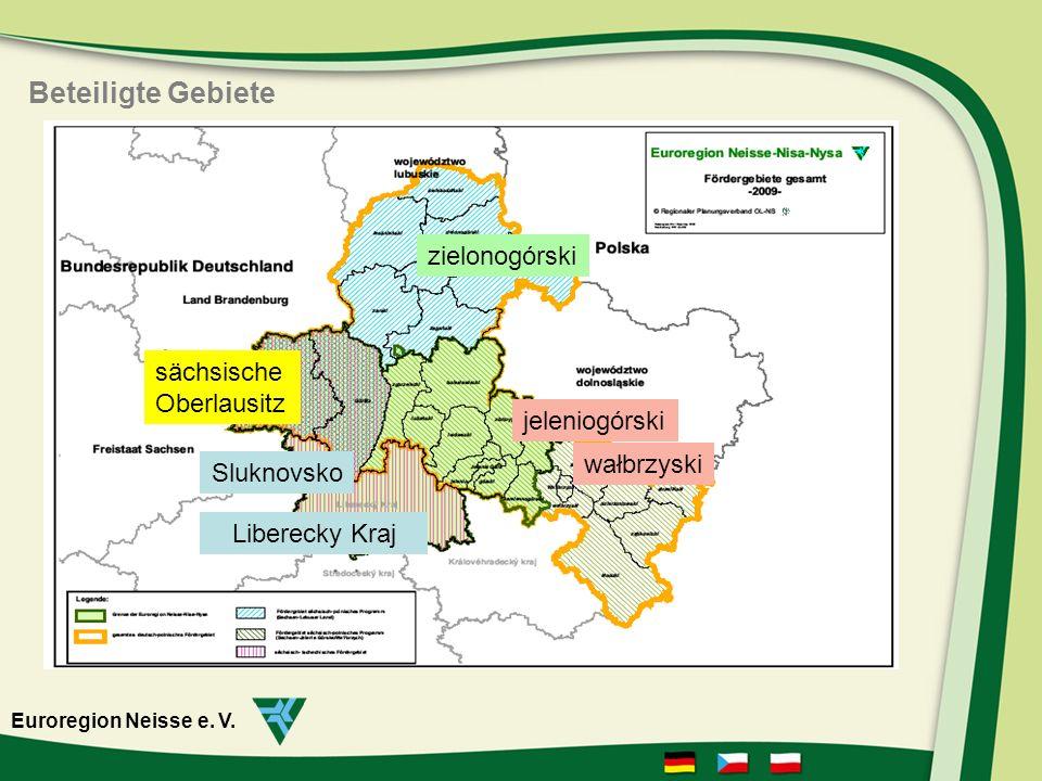 Beteiligte Gebiete zielonogórski sächsische Oberlausitz jeleniogórski