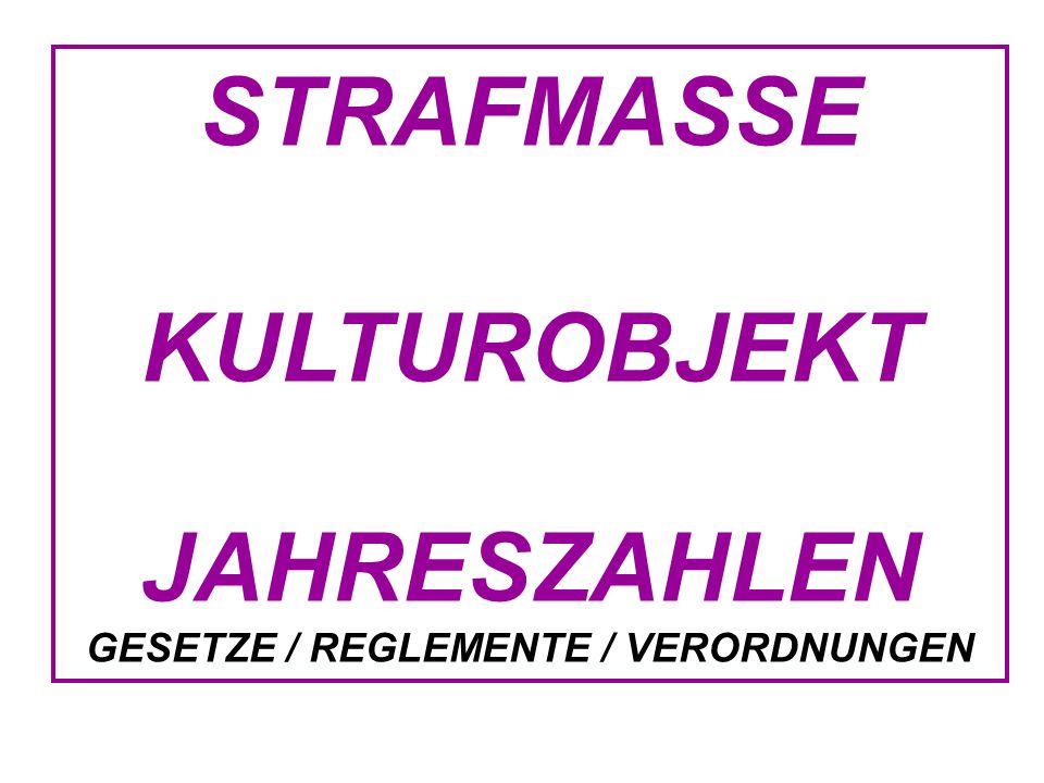 GESETZE / REGLEMENTE / VERORDNUNGEN