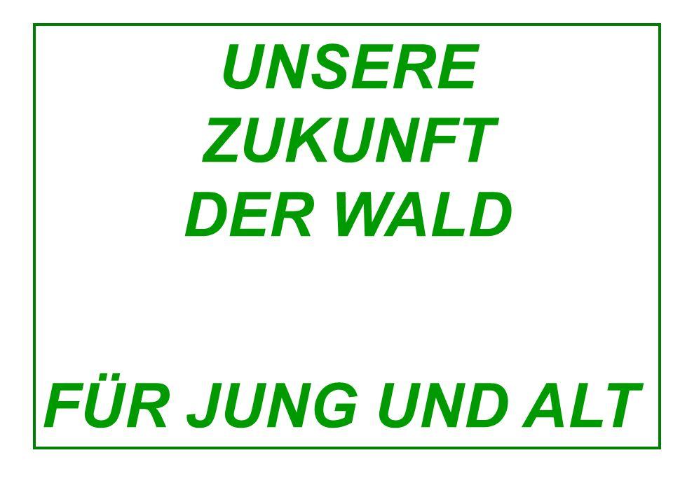 UNSERE ZUKUNFT DER WALD FÜR JUNG UND ALT