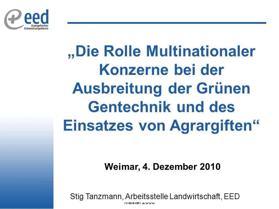 Stig Tanzmann, Arbeitsstelle Landwirtschaft, EED